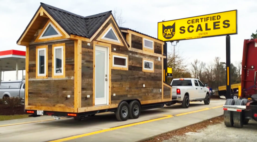 tiny house on a scale