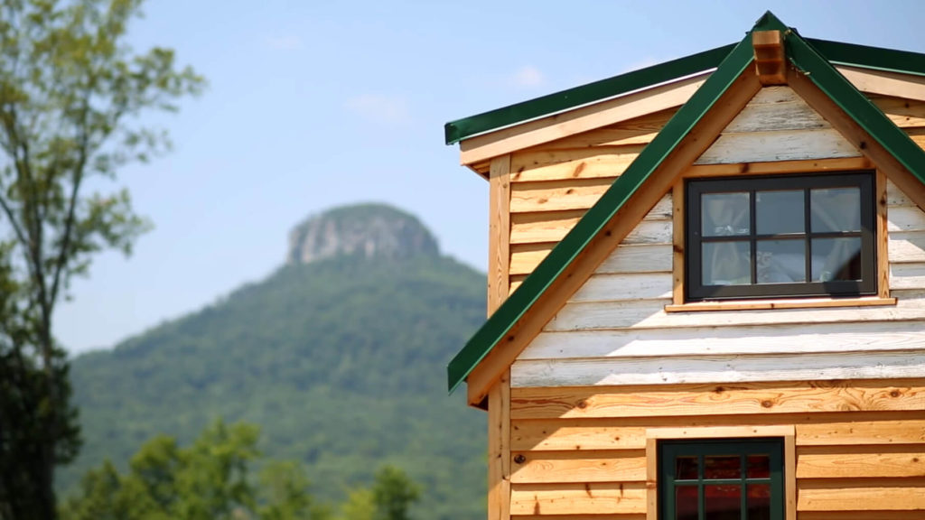 upper part of the tiny house