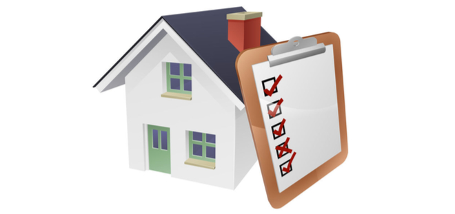 illustration of a house and checklist