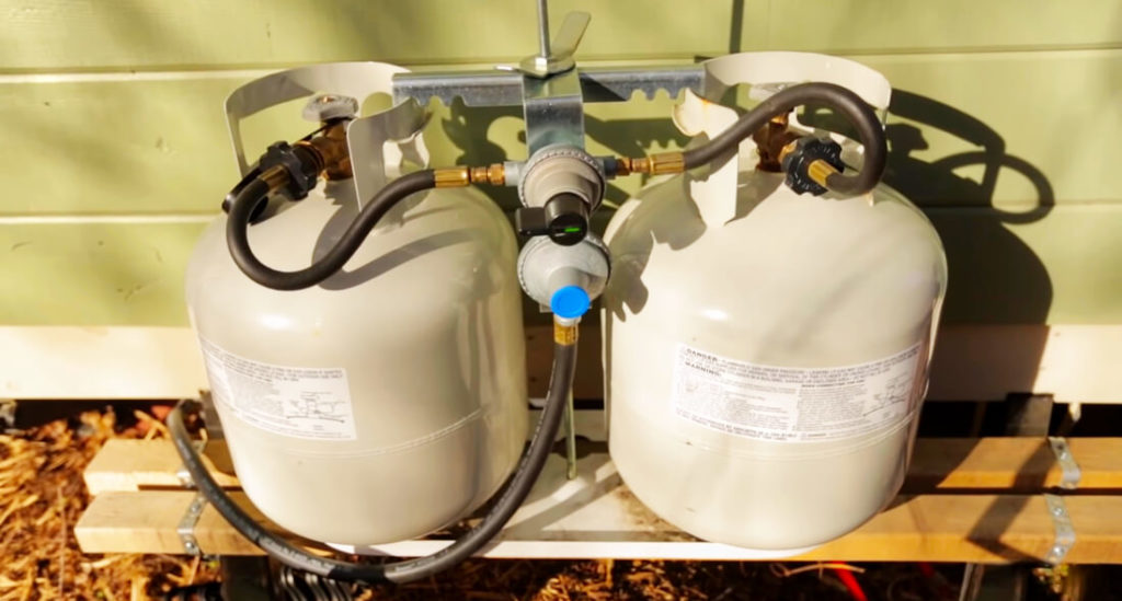 two propane tanks