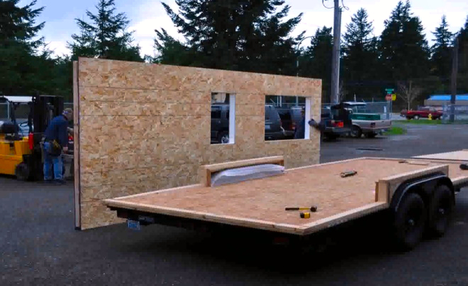 tiny house floor built with SIPs