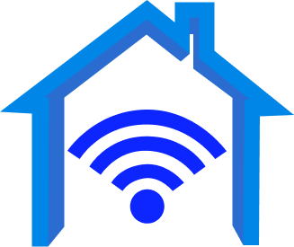 tiny house and wi fi signal illustration
